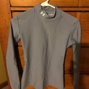 Under Armour solid fitted ColdGear Mockneck shirt